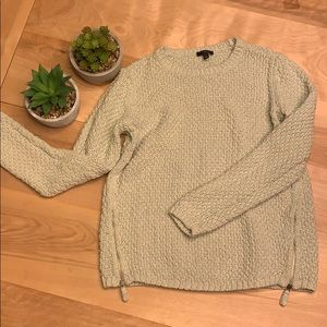 2/$15 Talbots Mint green Cable Sweater